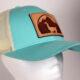 turquoise llama hat