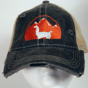 Charcoal and White Llama Hat