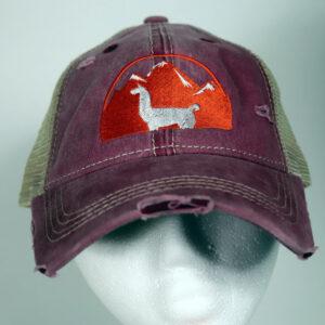 Violet Women's Llama Hat Distressed