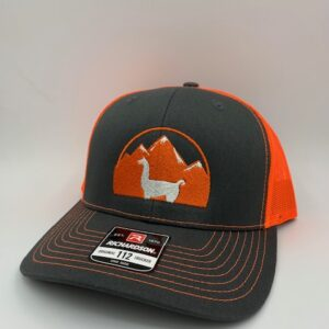 Orange and Black Llama Hat