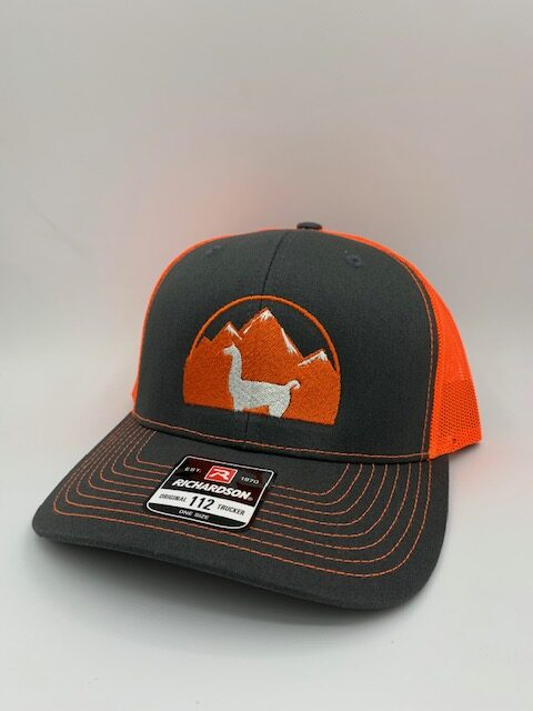 Orange and Black Llama Hat