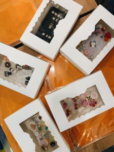 Phone cases in their boxes