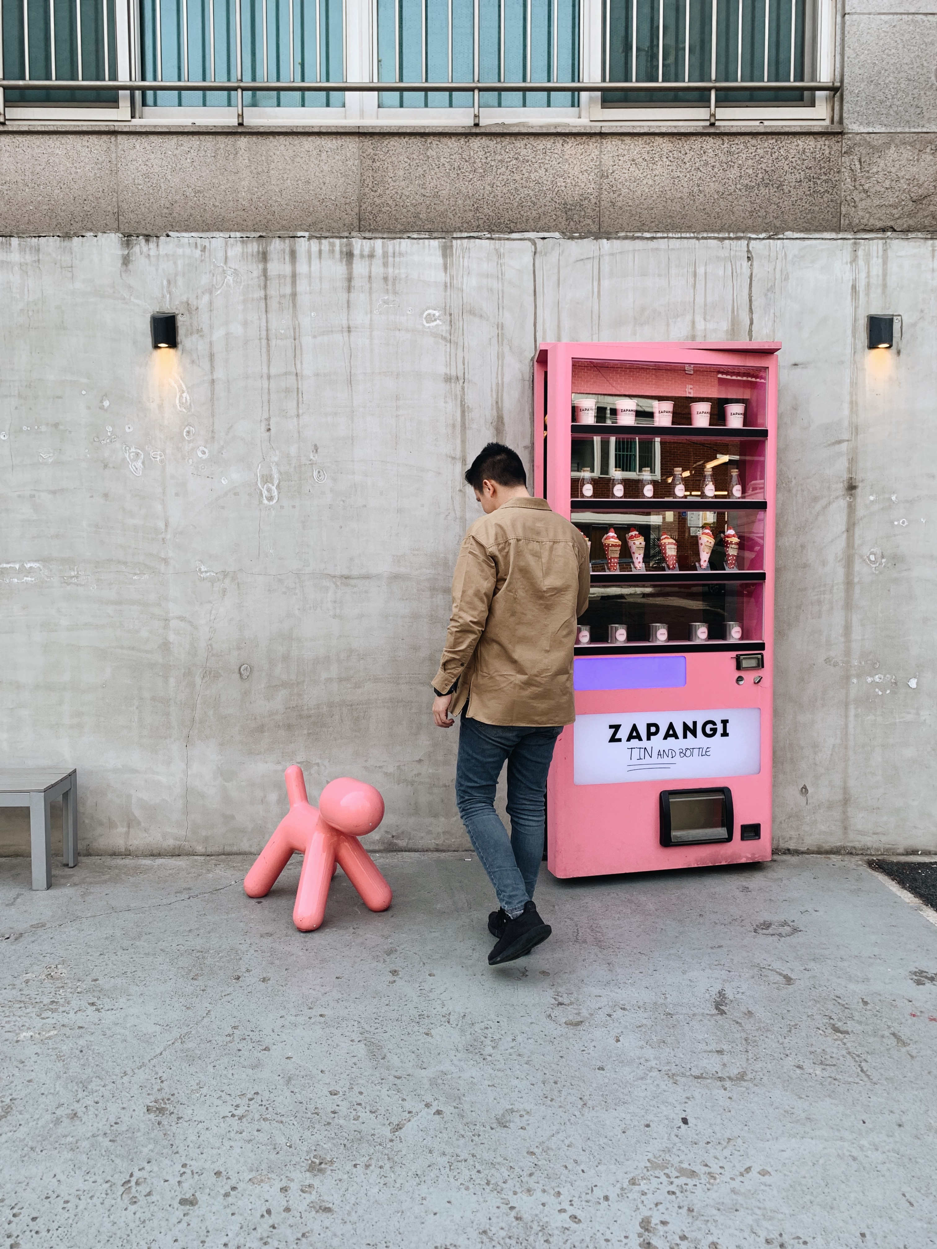 Zapangi Seoul Storefront with vending machine door