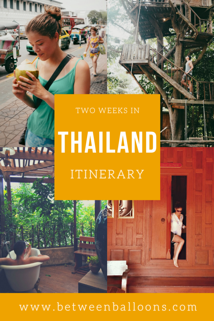 Two weeks in Thailand itinerary.