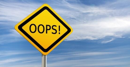 Los cinco errores más costosos