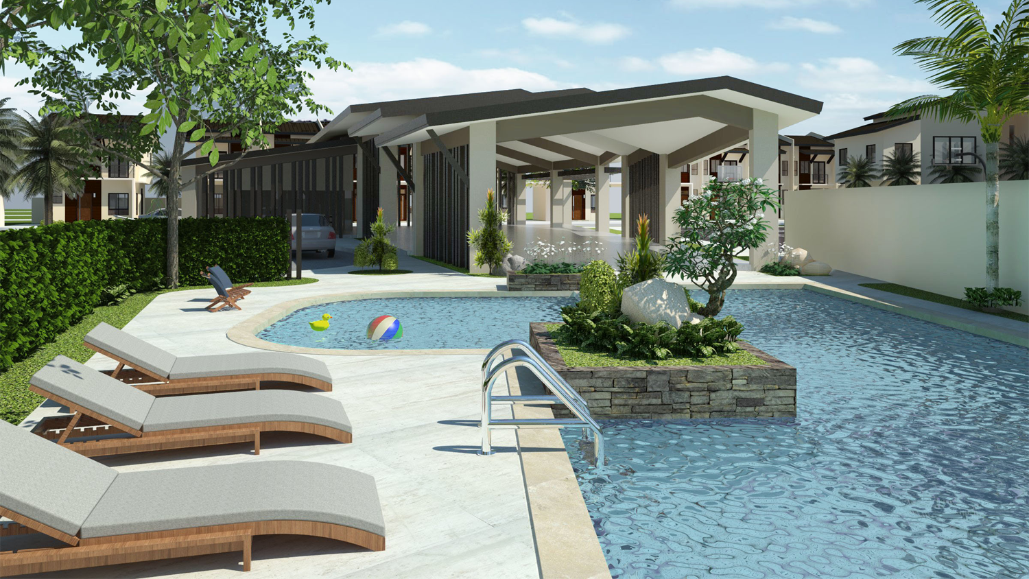 serenis south pool area