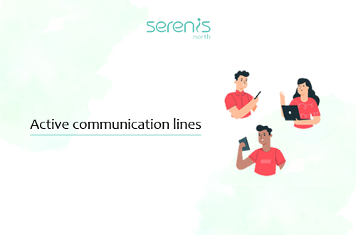 keep your communication lines active