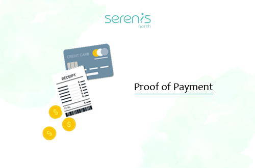 Send proof of payment