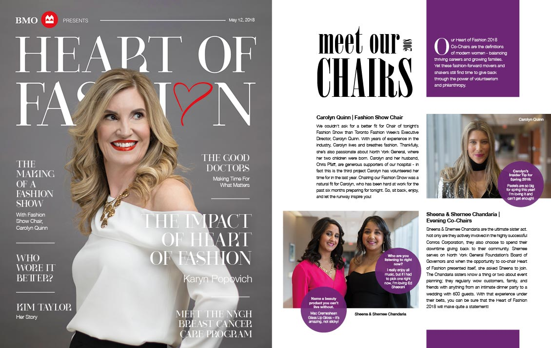 Heart of Fashion 2018 Magazine — North York General Foundation