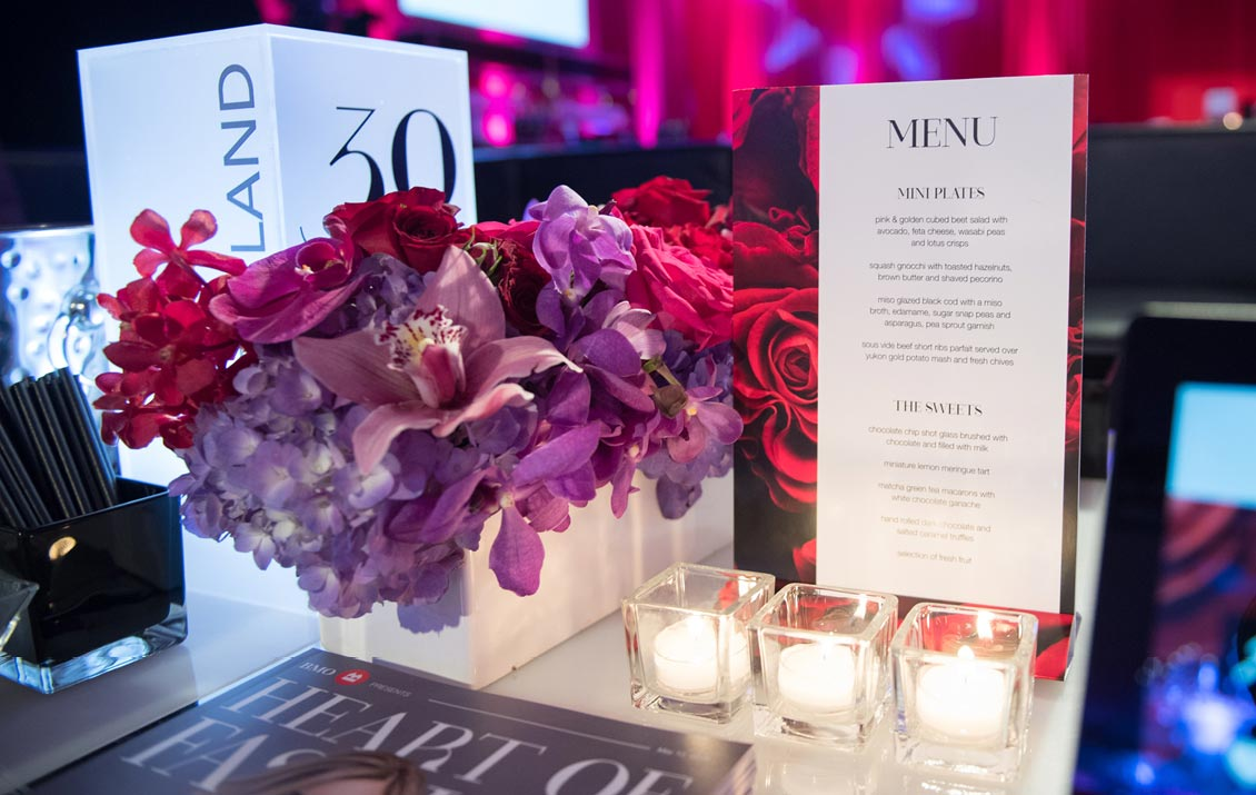 Heart of Fashion 2018 Table Setting —North York General Foundation