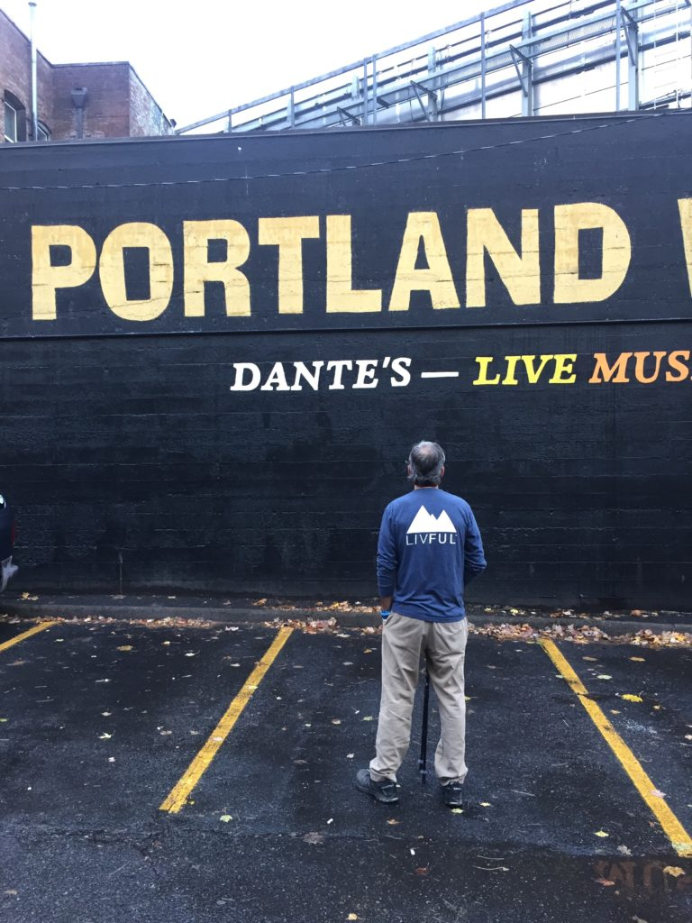 Graham and Living visit Portland
