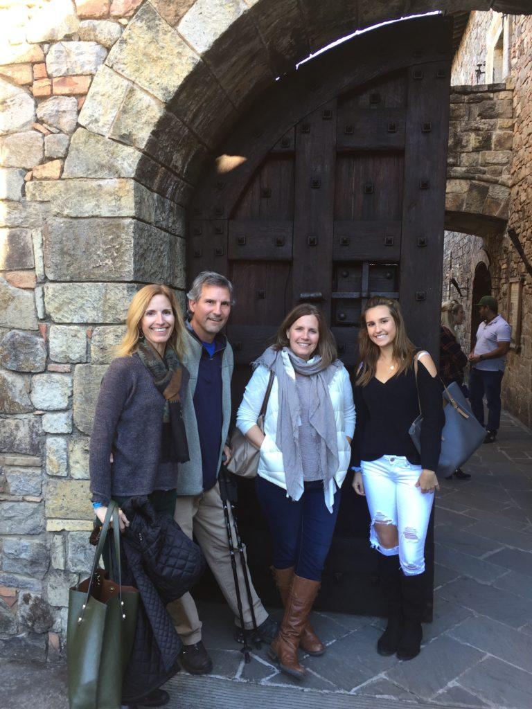 Starting our tour of Castello di Amorosa