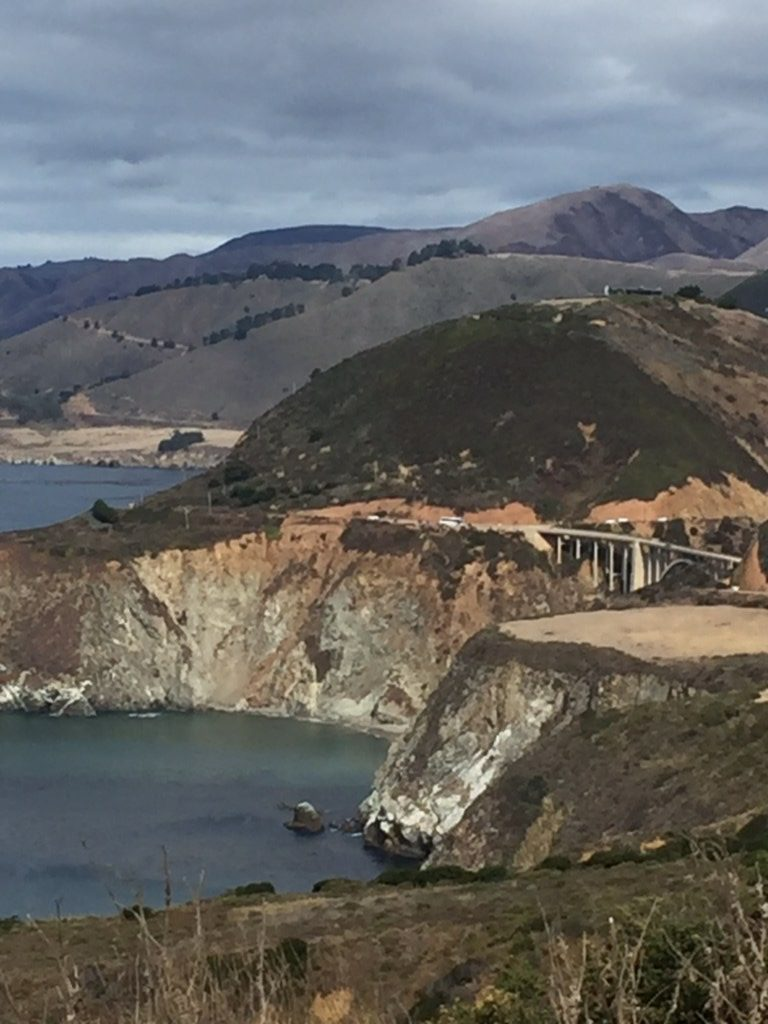 A View of Bixby Bridge from Big Sur