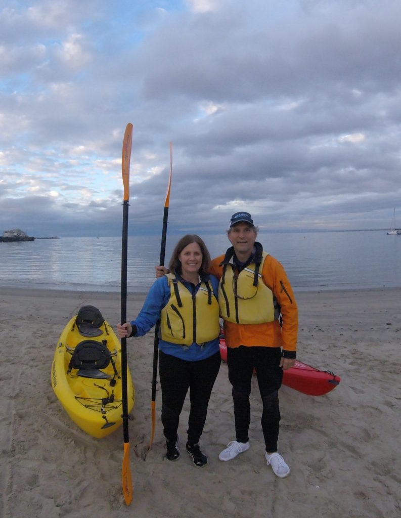 Starting our Kayak adventure-around Monterey Bay
