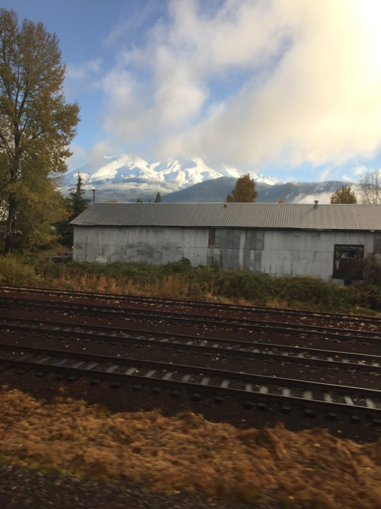 Mt. Shasta from the train