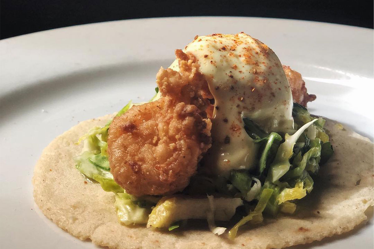 Ex-Voto Calabash Shrimp Taco