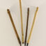 Small Diameter Watercolor Ink And Aqueous Acrylic Set With 1 Inch Long Bristles And Bamboo Cane Handles