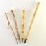 Small, Medium, Wangi and Large Pony Hair brush with bamboo cane and Wangi Bamboo handles