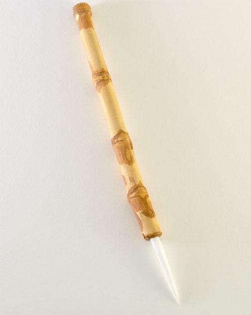 """Medium size 2"""" bristle length Soft White Synthetic, with Wangi bamboo handle."""