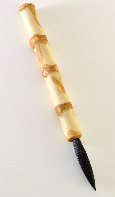 Medium Size Goat brush with 2 inch bristle length and wangi bamboo handle.