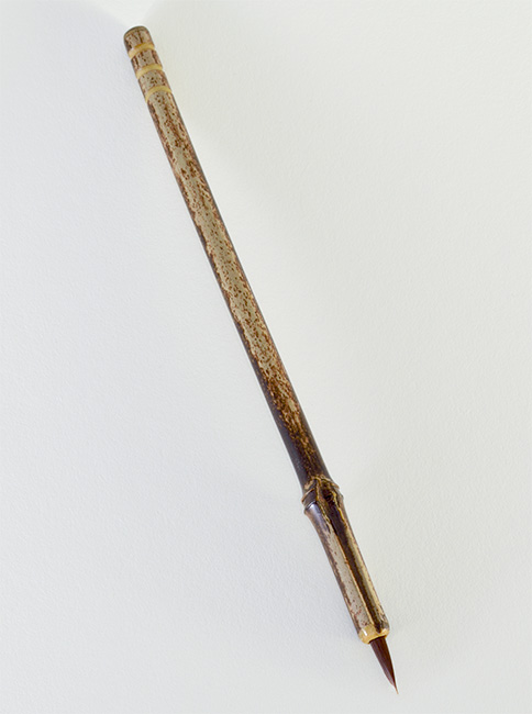 """½"""" long Brown Synthetic bristle, with bamboo cane handle"""