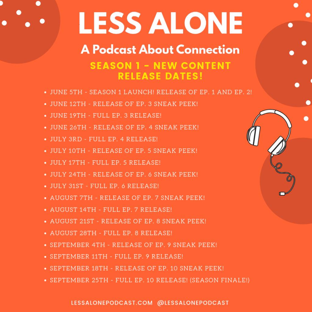 less alone podcast season 1 release dates