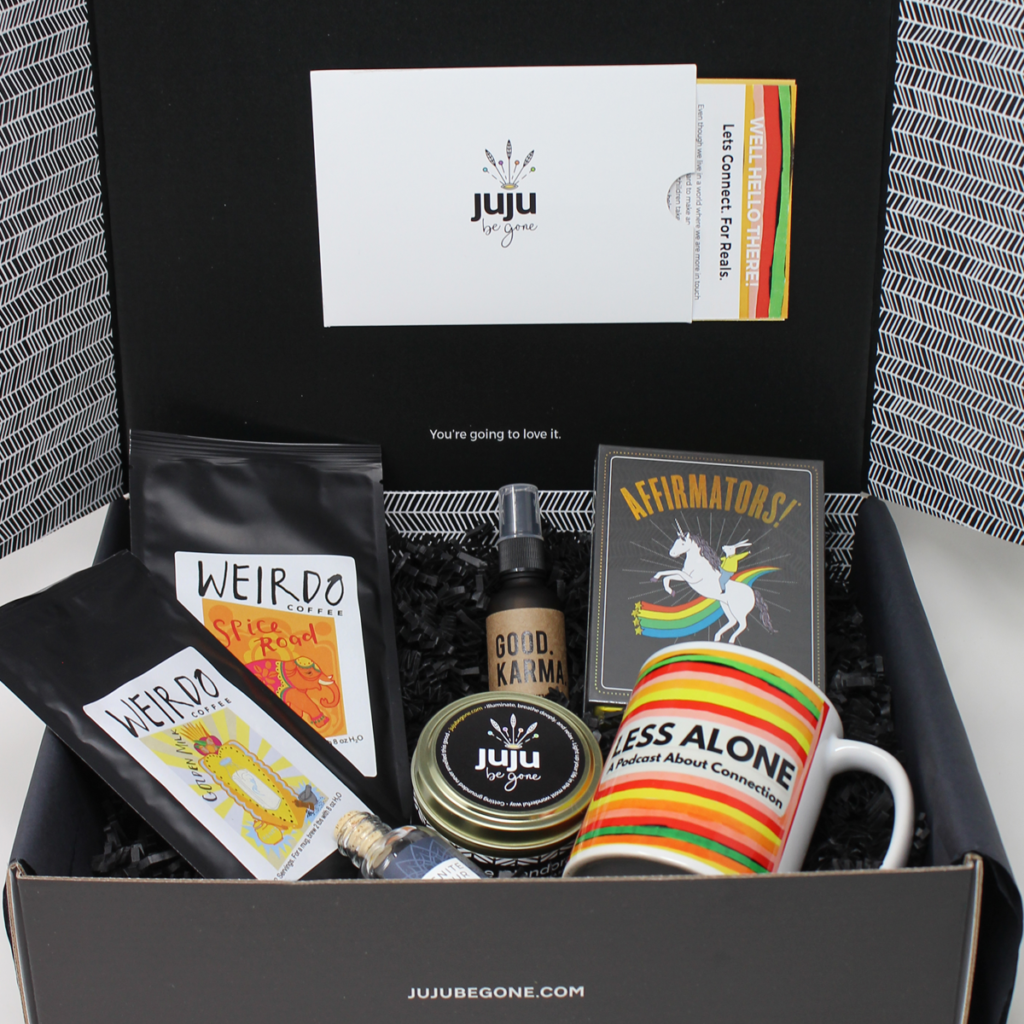 JuJu Be Gone x Less Alone Podcast Collab Gift Box