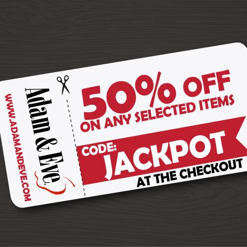 jackpot, coupon code, adameve.com, adam & eve coupon code