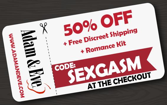 sexgasm, adam and eve coupon code, adam & eve, adameve.com