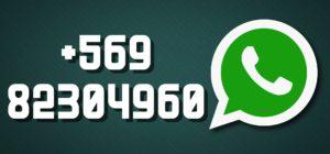 Imagen de nuestro número de whatsapp en grande: +569 82304960