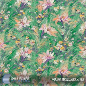 WTP-259 Flower-Dark Green