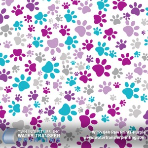 WTP-840 Paw Prints-Purple