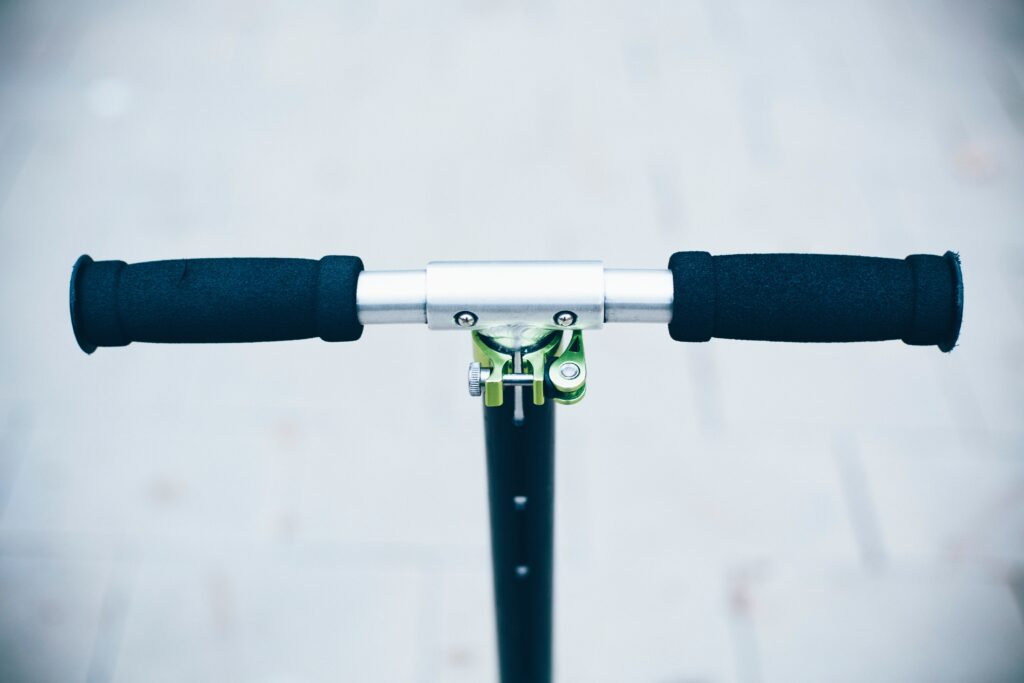 Close-up of Scooter handlebars