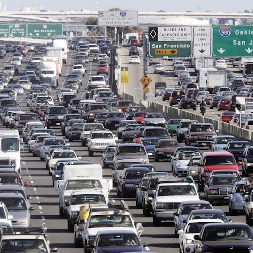 Photo of heavily congested highway