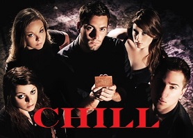 "Appearing in a publicity photo for ""Chill,"" clockwise from lower left, Erinn Bakun, Angelia DeLuca, Brad Arner, Kelly Rogers and Roger Conners. (Photo provided)"