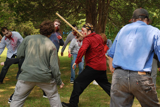 ninjas vs zombies day battle