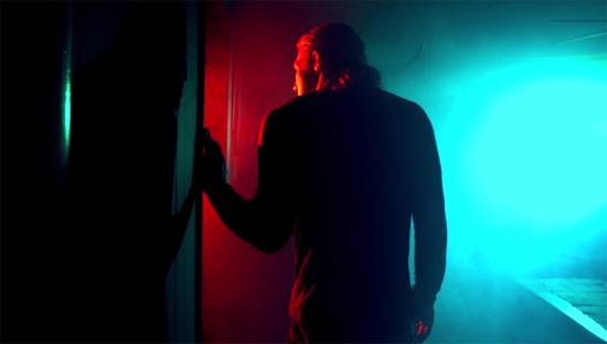 pinwheel red blue light