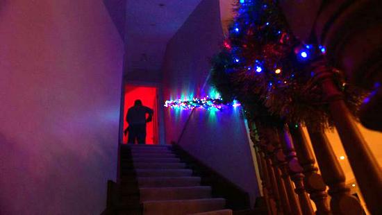 red christmas hall