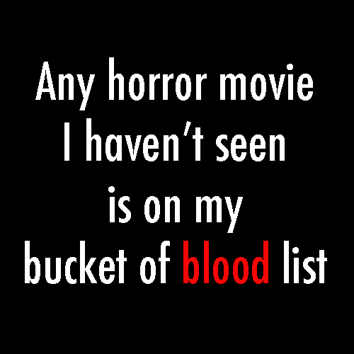 horror movie bucket list