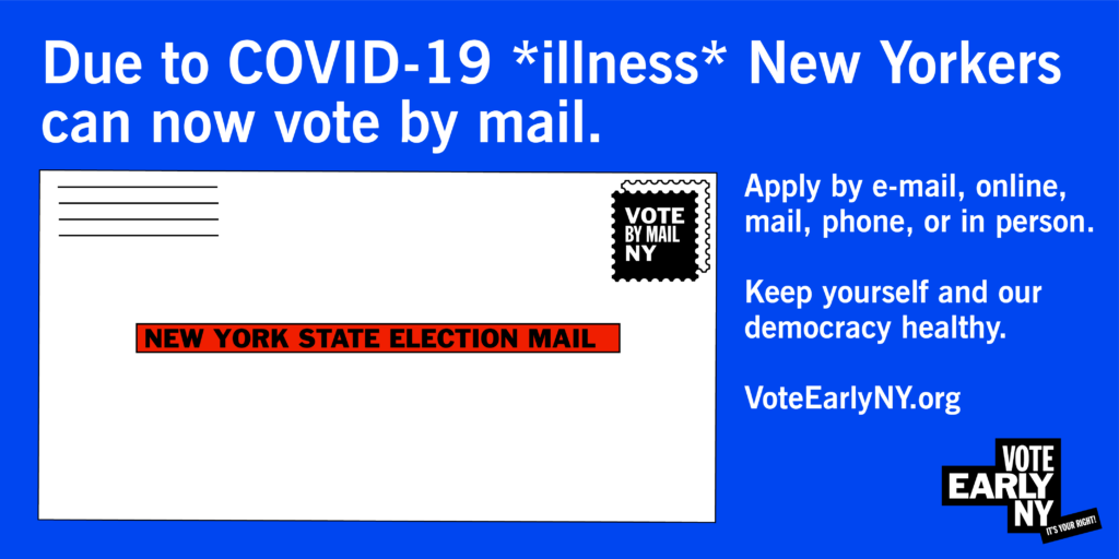 Due to illness vote by mail (and how) Evergreen