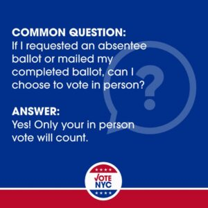 Absentee Graphic FAQ - In person trumps absentee