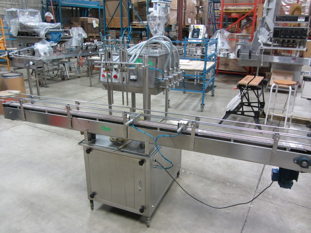 Four Head Inline Gear Pump Filler
