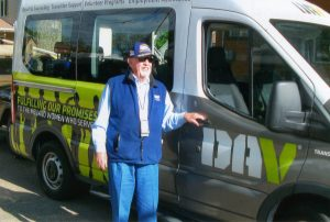 Since 2009, RSVP member, Cal Gardner, has logged 60,000 miles driving for the Disabled American Veterans Transportation Program.