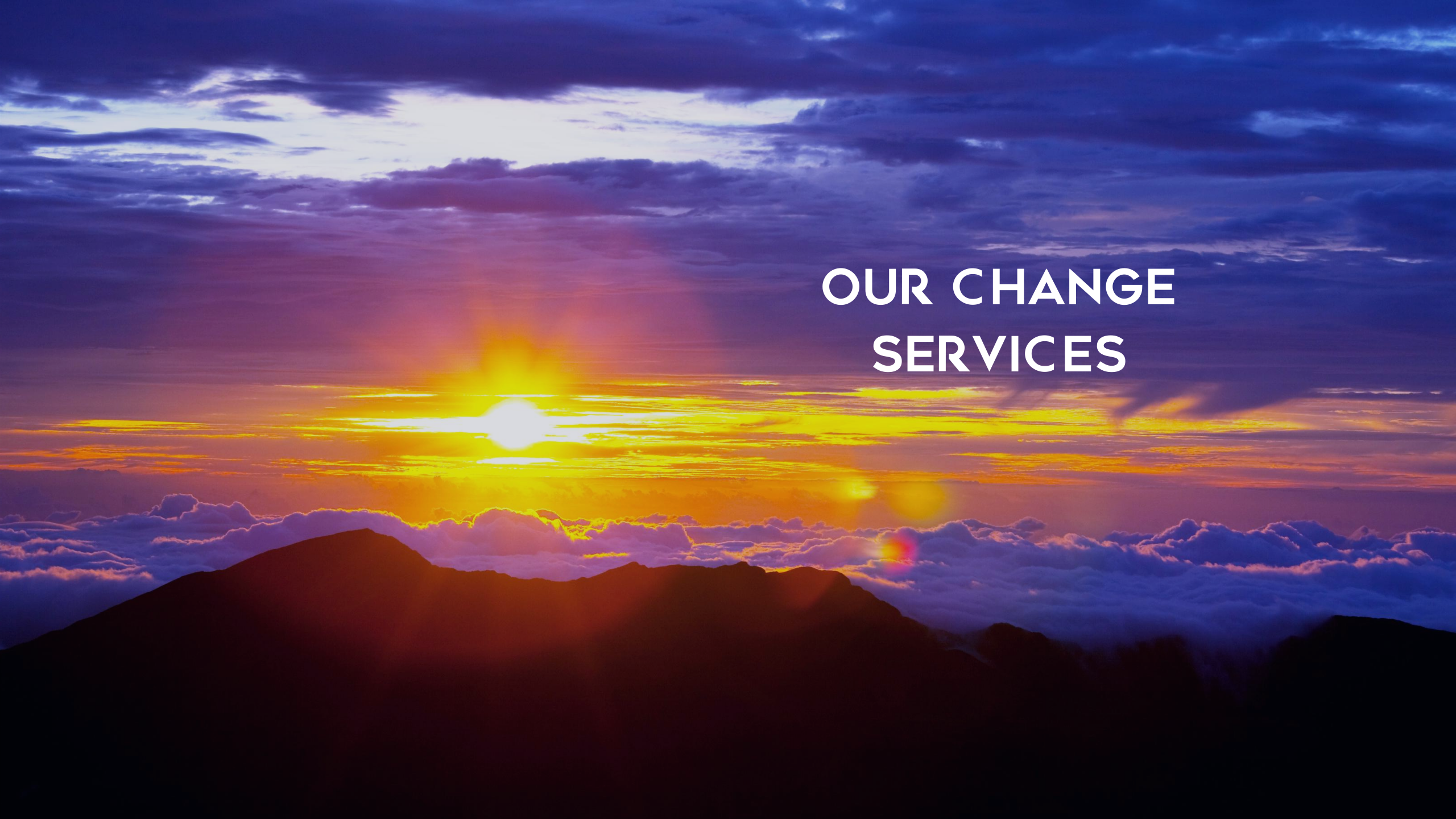 The Change Hub Services page