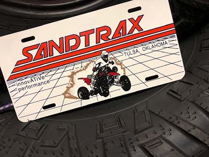 sandtrax license plate