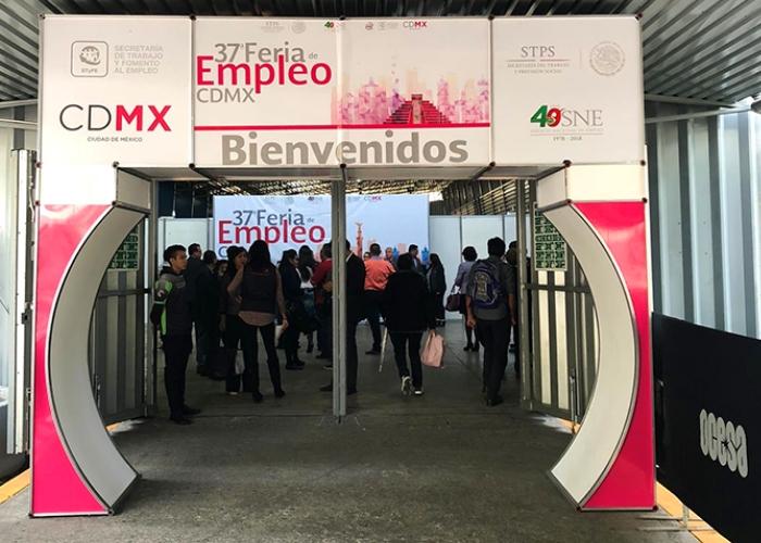 entrada a la feria del empleo 2018 ciudad de mexico