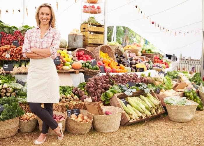 consumo local y vendedora