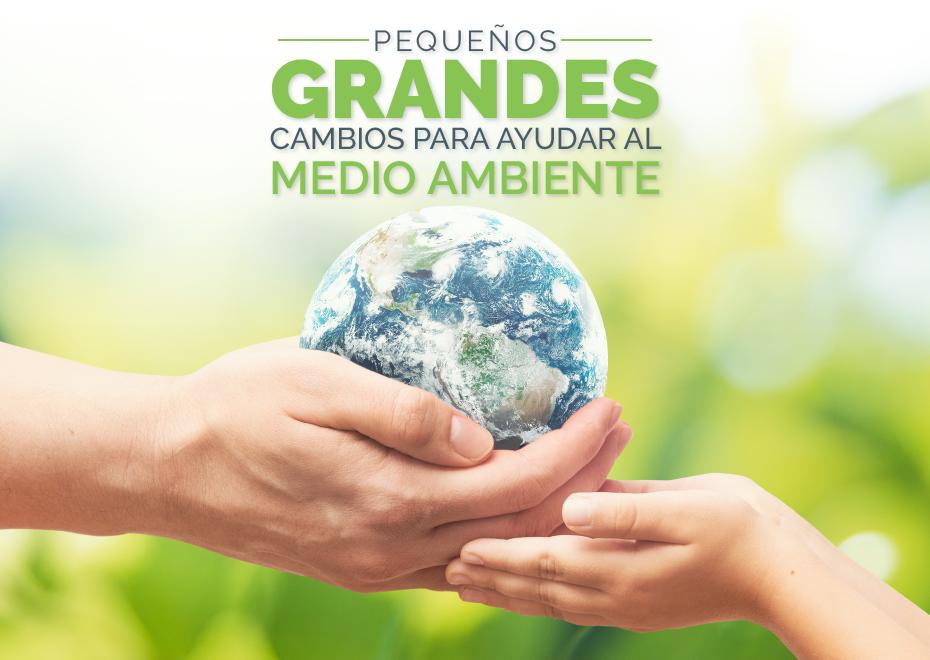 Pequeños grandes cambios para ayudar al medio ambiente