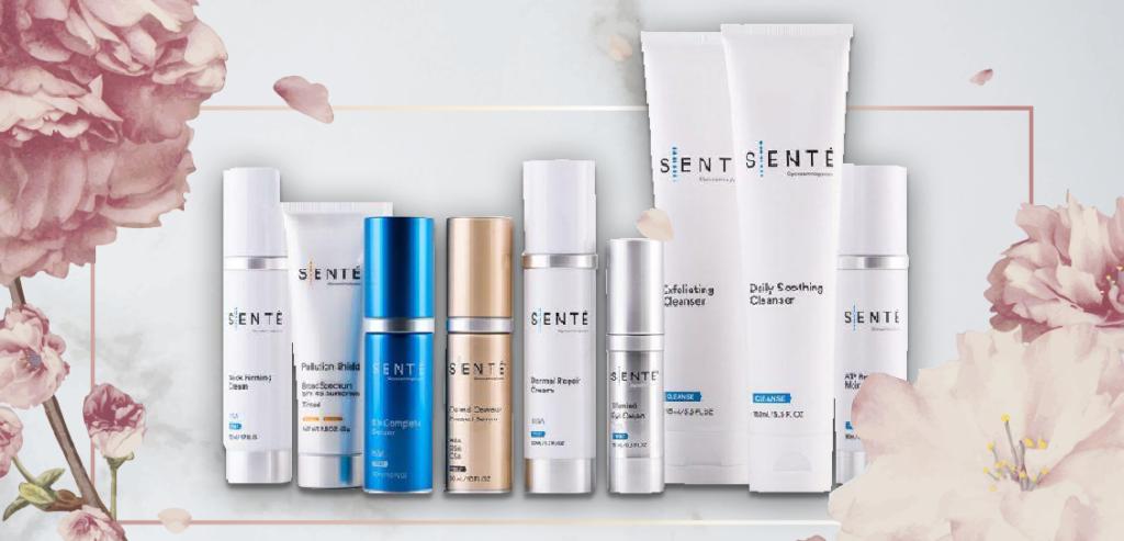 SENTÉ Product line now on sale at LunaSkincareandLashStudio.com