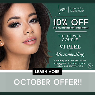 Special VI Peel and Microneedling offer from Luna Skincare in Walnut Creek